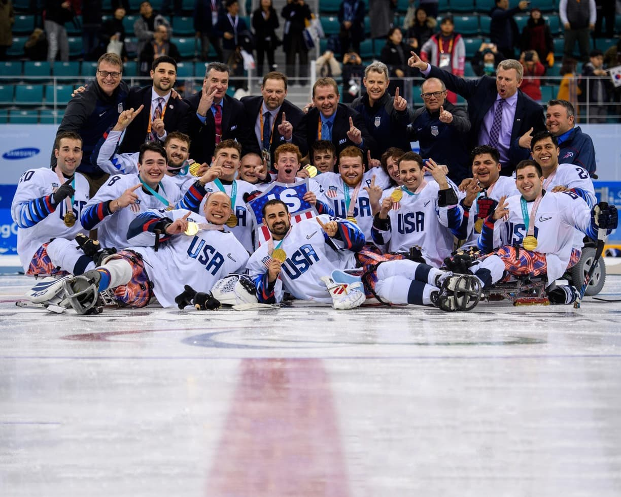 Ralph DeQuebec and the USA Paralympic Ice Hockey Team